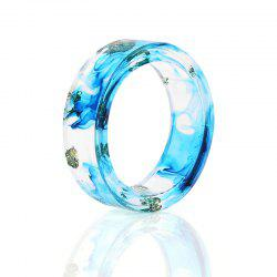 Dry Flower Ocean Resin Transparent Ring