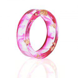 Dry Flower Transparent Resin Ring