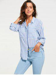 Long Sleeve Front Pocket Stripe Shirt