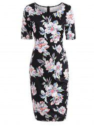 Formal Floral Ptint Bodycon Dress