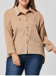 High Low Drop Shoulder Plus Size Jacket