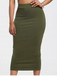 High-Waisted Midi Bodycon Skirt