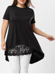 Lace Extender Sheer Plus Size Mini Skirt -