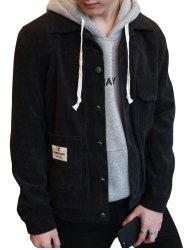 Button Up Chest Pocket Corduroy Jacket -