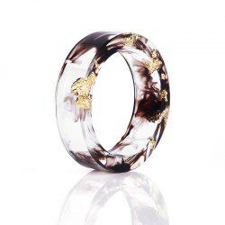 Vintage Dry Flower Transparent Resin Ring -