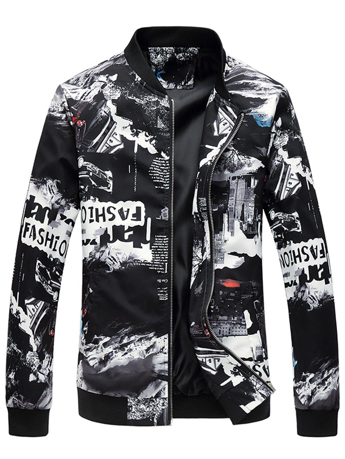 Shops Car Graphic Print Zip Up Jacket