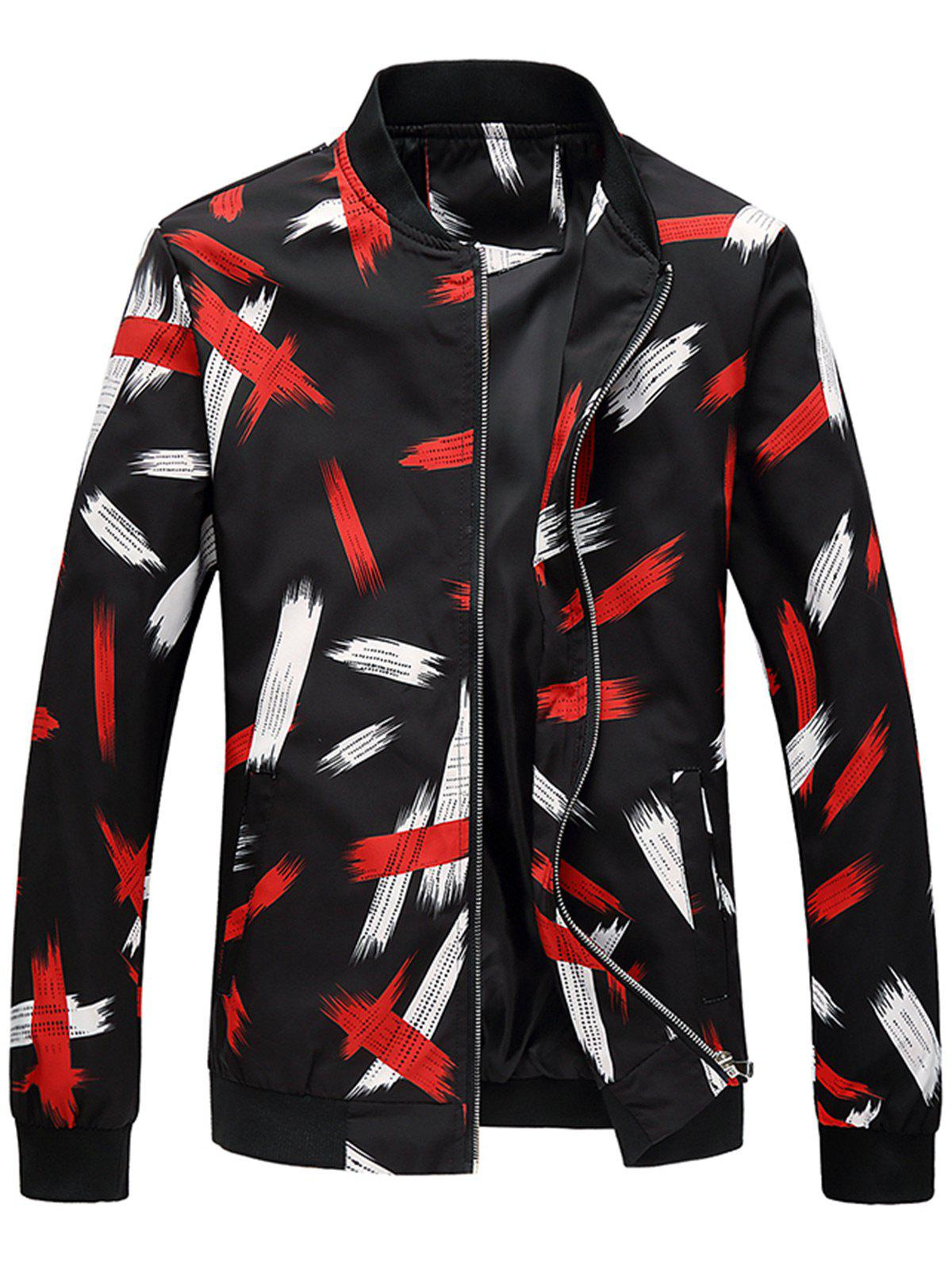 Latest Colored Printed Zip Up Jacket