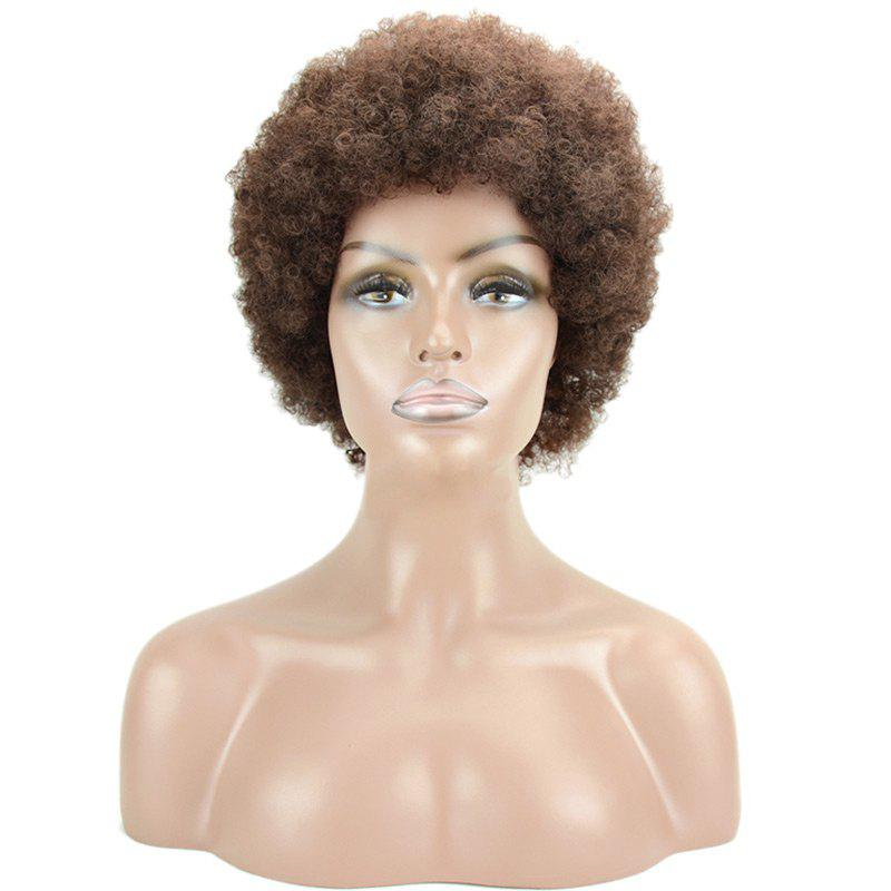 Image of Short Fluffy Afro Curly Heat Resistant Synthetic Wig