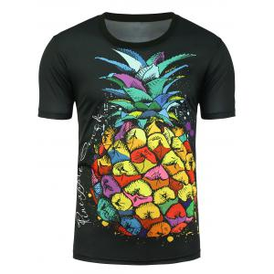 Graphic Pineapple Print T-shirt