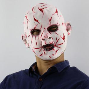 Blood Face Phantom Latex Halloween Head Mask - Red
