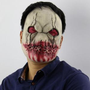 Latex Blood Mouth Zombie Print Halloween Mask