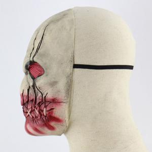 Latex Blood Mouth Zombie Print Halloween Mask -