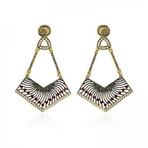 Hollow Out Zigzag Pendant Earrings