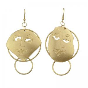 Funny Face Shape Fish Hook Earrings