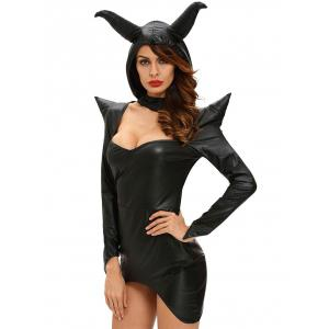 Asymmetric Gothic Cosplay Costume - Black - L