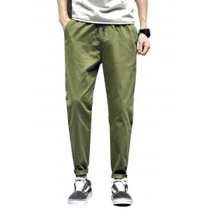 Drawstring Harem Nine Minutes of Pants - Army Green - Xl