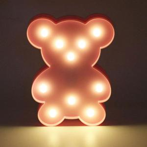 Little Bear Shape Decoration Night Light - LIGHT PINK