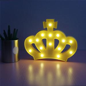 Crown Shape Decoration Atmosphere Lamp - YELLOW