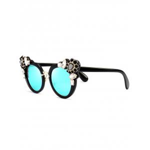 Anti UV Faux Crystal Gemstone Inlaid Sunglasses