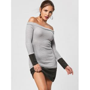 Off The Shoulder Tight Jumper Dress -