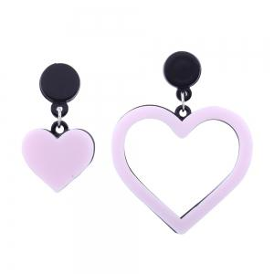 Asymmetric Double Heart Earrings