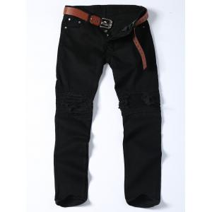 Slim Fit Distressed Biker Jeans