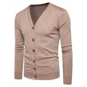 Knitting V Neck Button Up Cardigan