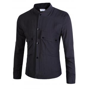 Double Pockets Button Up Jacket
