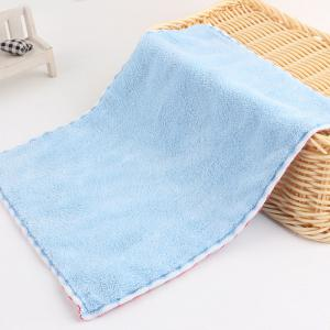 Thickening Coral Fleece Mini Wiping Cloth - Windsor Blue - 22.5*16.5*1.7cm(15kg And 1g)