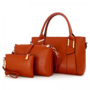 3 Pieces Faux Leather Handbag Set