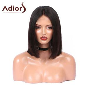 Adiors Medium Center Parting Glossy Straight Bob Synthetic Wig