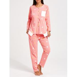 Button Up Floral Nursing Loungewear Set