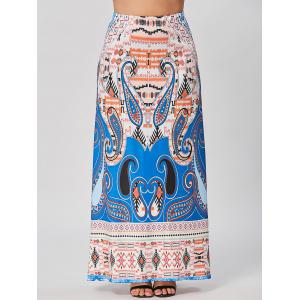 Plus Size Printed Maxi Bohemian Skirt