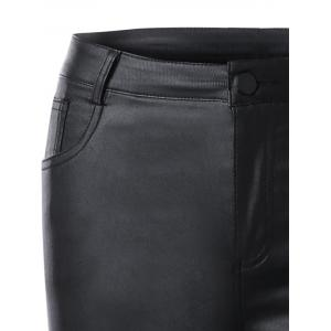 Five Pockets Panties en cuir PU - Noir M