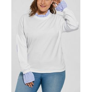 Plus Size Ruffle Neck Drop Shoulder Sweatshirt