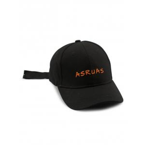 Long Tail Zipper Letters Embroidery Baseball Hat