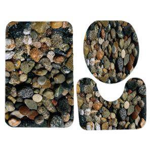 Sea Stone Pattern Ensemble de toilette 3 pcs -