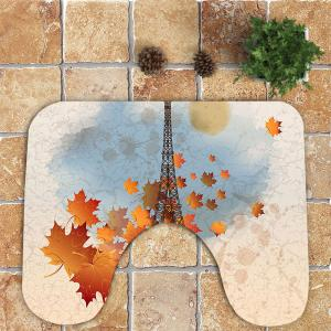 Nonslip Iron Tower Pattern 3Pcs Bath Toilet Mats Set -