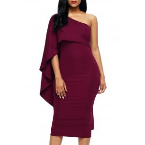 One Shoulder Asymmetrical Bodycon Dress