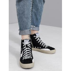 Eyelets Zipper Color Block Athletic Shoes - BLACK 37