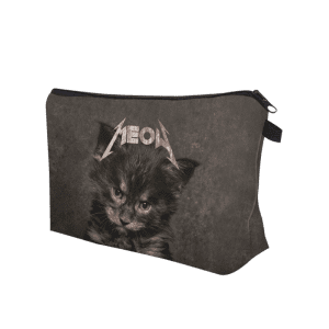 3D Cat Printed Clutch Makeup Bag -