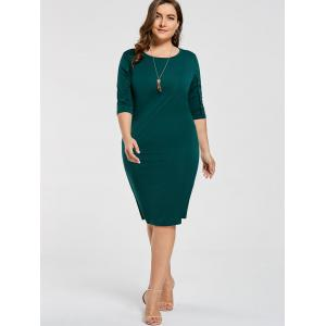 Plus size sheath dress with sleeves