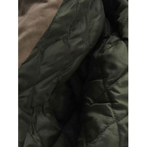 Double Zip Up Hooded Padded Parka Coat - ARMY GREEN 3XL