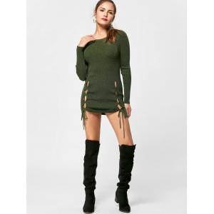 Short Lace Up Jumper Dress -