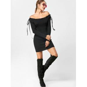 Off The Shoulder - Robe pull à manches longues -