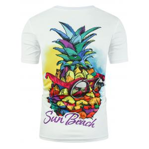 Sun Beach Graphic Pineapple T-shirt -