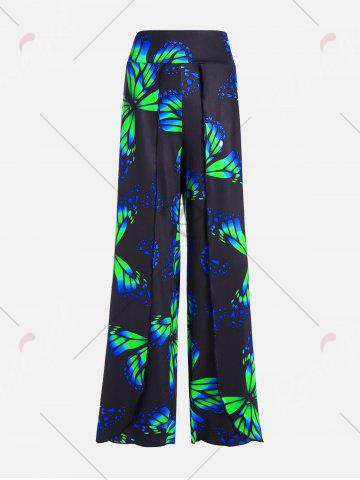 Hot Plus Size High Waist Butterfly Palazzo Pants - 3XL COLORMIX Mobile