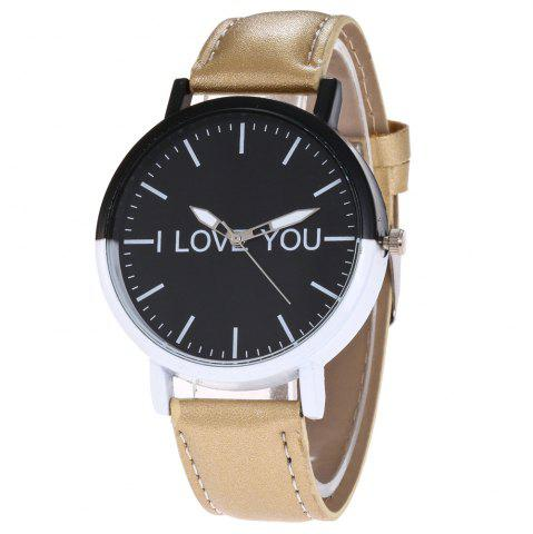 Outfits I Love You Faux Leather Strap Watch
