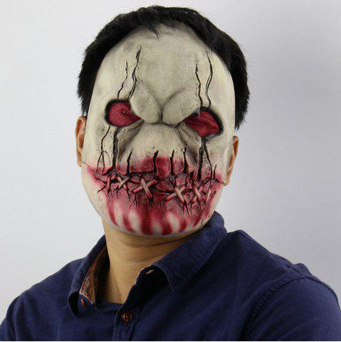 Sale Latex Blood Mouth Zombie Print Halloween Mask - COLORFUL  Mobile