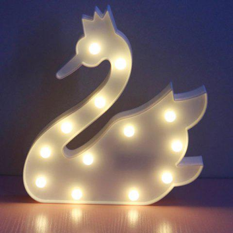 Outfits Home Decor Swan Shape Night Light - WHITE  Mobile